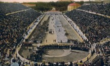 1906, not recog. by IOC-The delegations of the nationsgathered in the Pan-Athenian stadium.